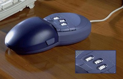 Vir Touch Mouse with Braille Cells